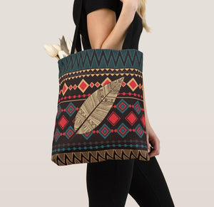 Black and Red Tribal Pattern Handbag