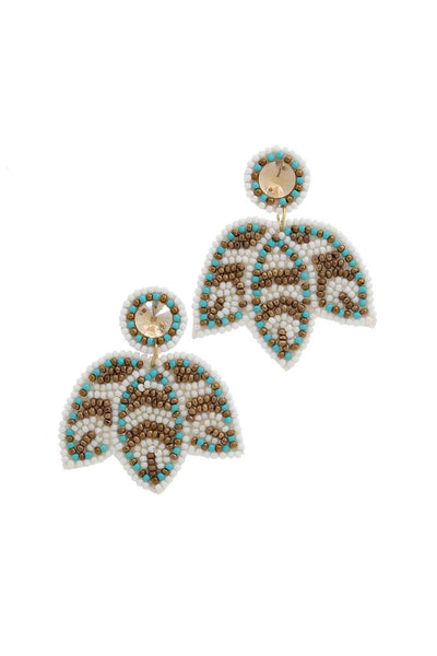 Seed Bead Post Drop Earring