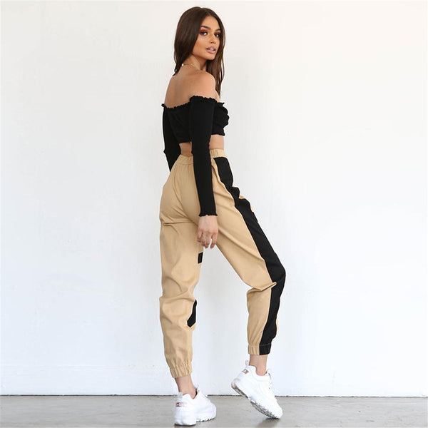 Women's Street High Waist Cargo Pants Sets