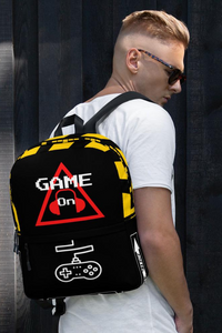 Caution One Way Game On Video Gamers Unisex Backpack