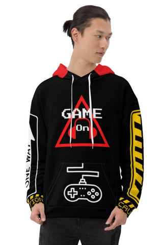 Caution One Way Game On Video Gamers Unisex Hoodie