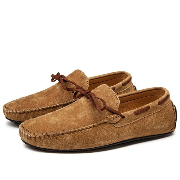Waterproof Casual Men's Suede Leather Moccasin Loafers Men's Shoes