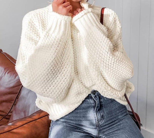 Knitted Pullover Women's Sweater