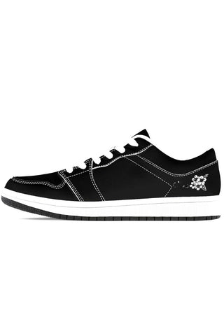Fashion Ayasha Low-Top Leather Sneakers - BlackWhite