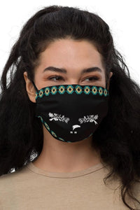 Fashion Ayasha Migizi Floral Logo Black Premium Face Mask