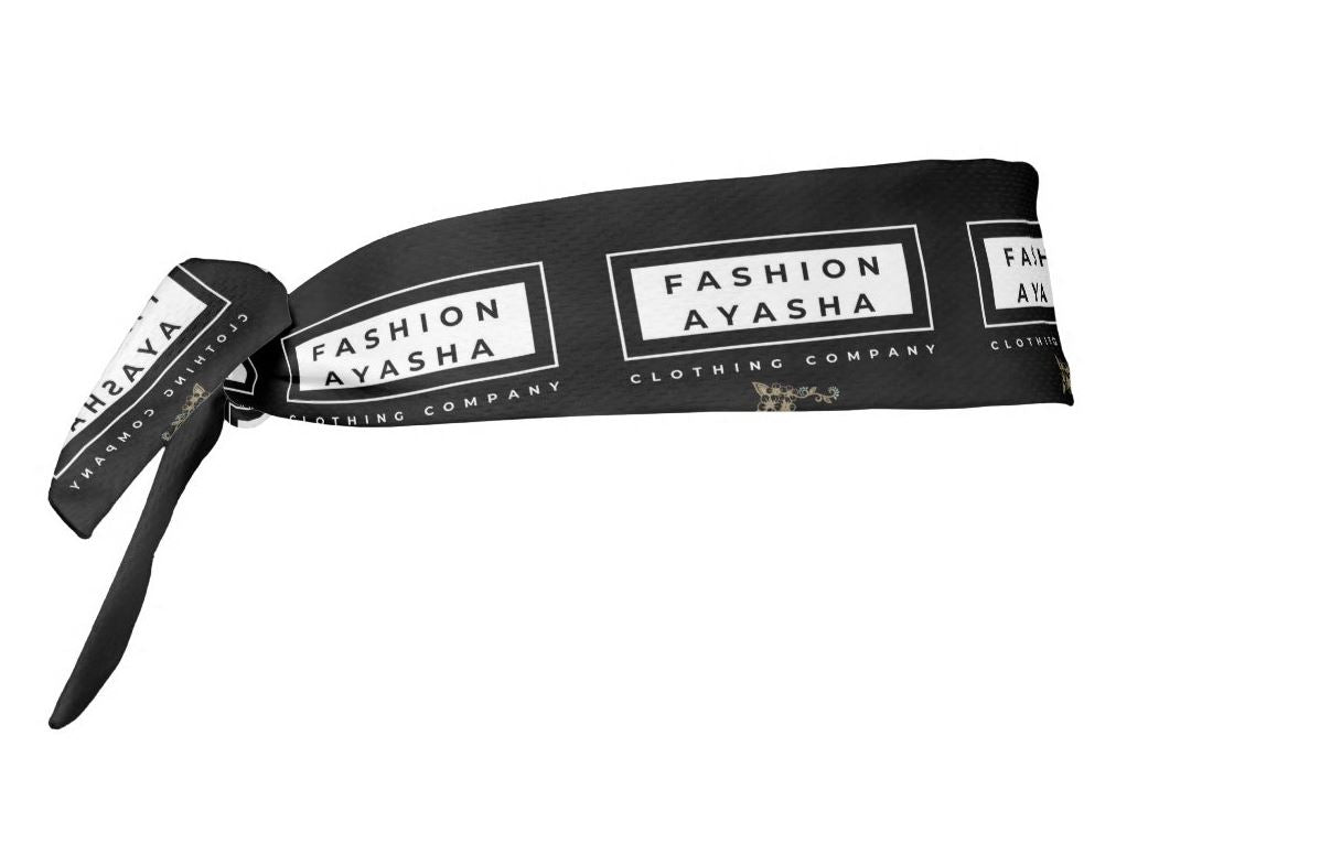 Fashion Ayasha Clothing Store Logo Tie Headband