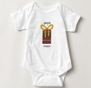 Gangsta Wrappa Christmas Baby Bodysuit