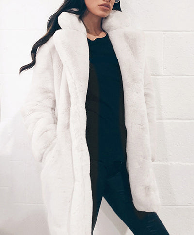 Faux Fur Women's Long Coat