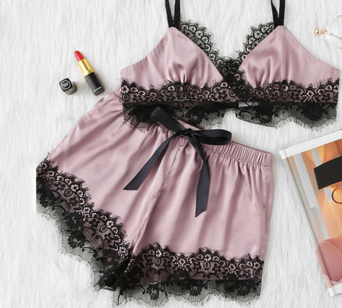 Pink Women's Lingerie Set
