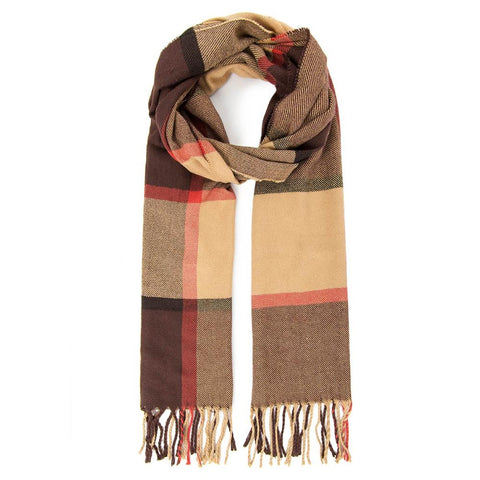 Fashion Ayasha Cashmere Scarf - brown