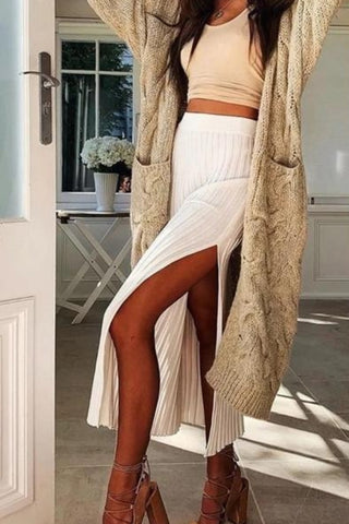 Knitted Womens Winter Long Cardigan