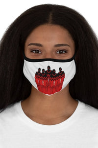 MMIW No More Stolen Sisters White Fitted Polyester Face Mask