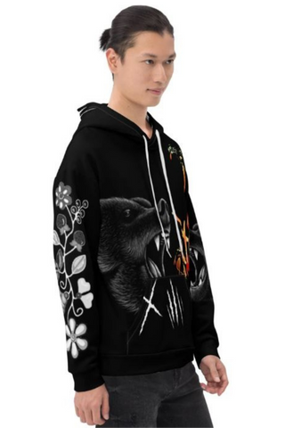 Men's Makwa Courage Black Hoodie-1