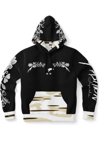 Men's Migizi Woodlands Florals Birch and Black Hoodie