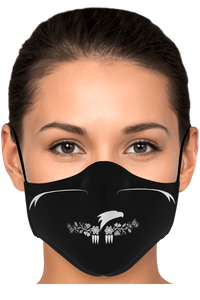 Migizi Fashion Ayasha Woodlands Floral Logo Black Face Mask