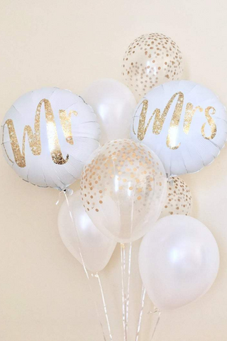 Mr. & Mrs. Balloons Set