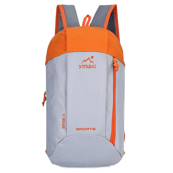 Waterproof Outdoor Sport Light Weight Hiking Backpack Grey Orange