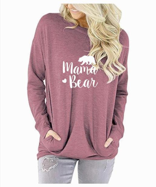 Pink Mama Bear Long Sleeve Shirt