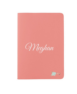 Personalize Coral Passport Holder