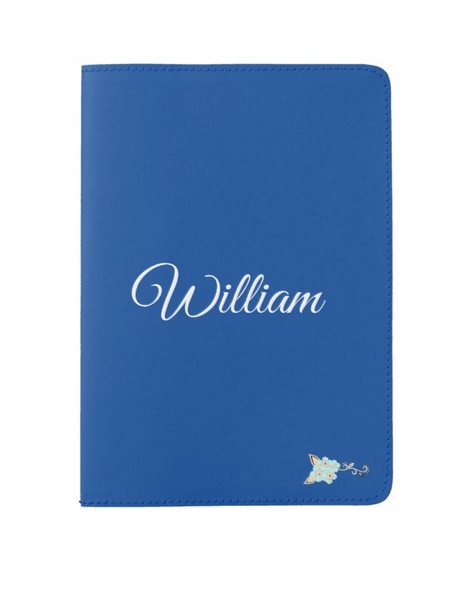 Personalized Blue Passport Holder