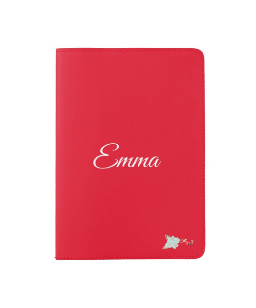 Personalize Red Passport Holder