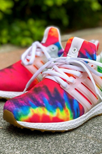 Rainbow Tie Dye Air Sole Lightweight Women's Sneakers