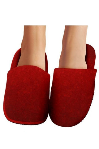 Red Holiday Slippers