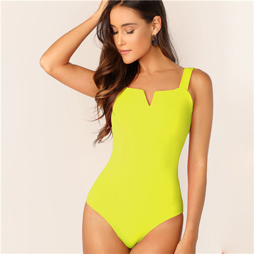 Women's Yellow Bodysuit