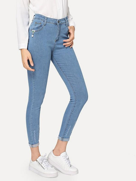 Women's Roll-Up Skinny Jeans
