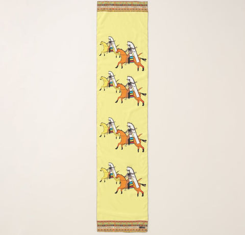 Yellow Shoshone Long Horse Scarf