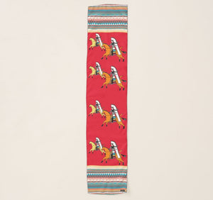 Red Shoshone Horse Scarf