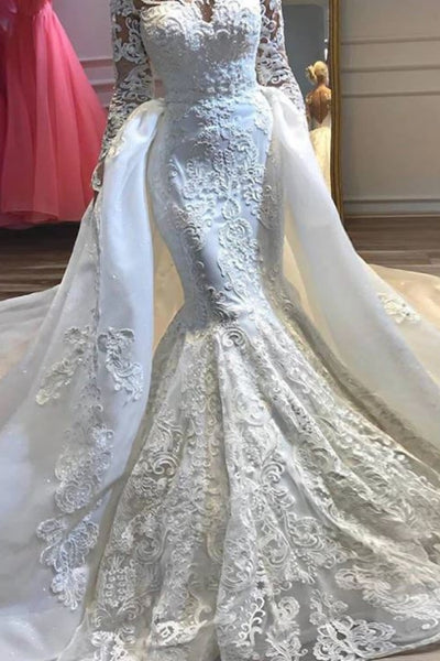 Simple Luxury Appliques Mermaid Wedding Dresses