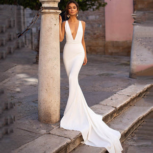 Sexy Simple Wedding Dress