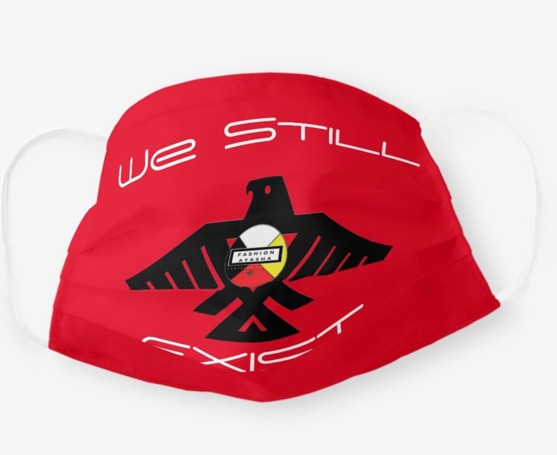 Thunderbird Brand Label We Still Exist Red Cloth Face Mask