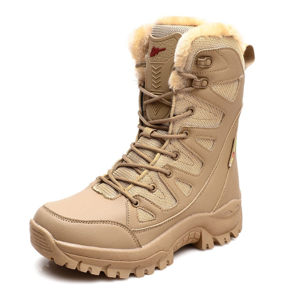 Women's Leather Winter Snow Boots