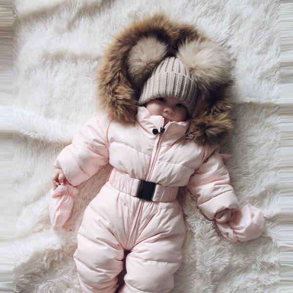 Winter clothes Infant Baby snowsuit Boy Girl Romper Jacket Hooded Jumpsuit Warm Thick Coat Outfit 2019 vetement New fille hiver 1