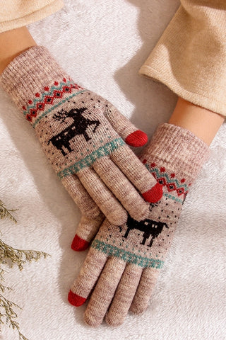 Women's Winter Holiday Gloves-