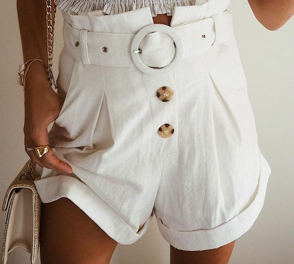 cute white women's shorts