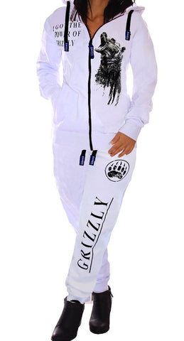 Grizzly Bear Womens 2 Piece Set Slim Hooded Sweat Suit