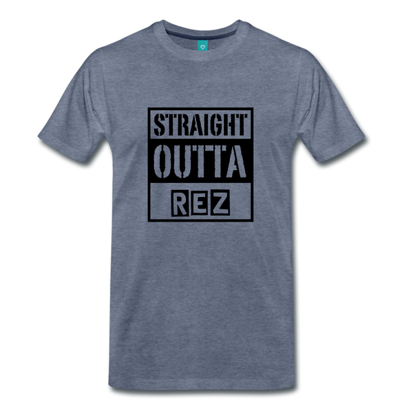 Straight Outta REZ Men's Premium T-Shirt - heather blue