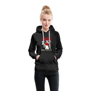 Stop Human Trafficking Women's Premium Hoodie - black