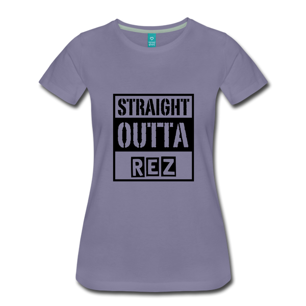 Straight Outta Rez Women's Premium T-Shirt - washed violet