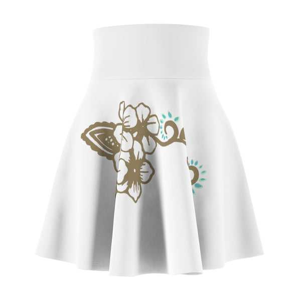 Women's White Flare Skirt - https://www.ayashaloyadesigns.com/products/womens-white-flare-skirt