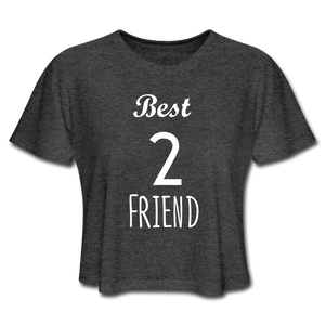 Best Friend 2 Women's Cropped T-Shirt - deep heather