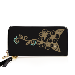 Flower Black Women's Wallet
