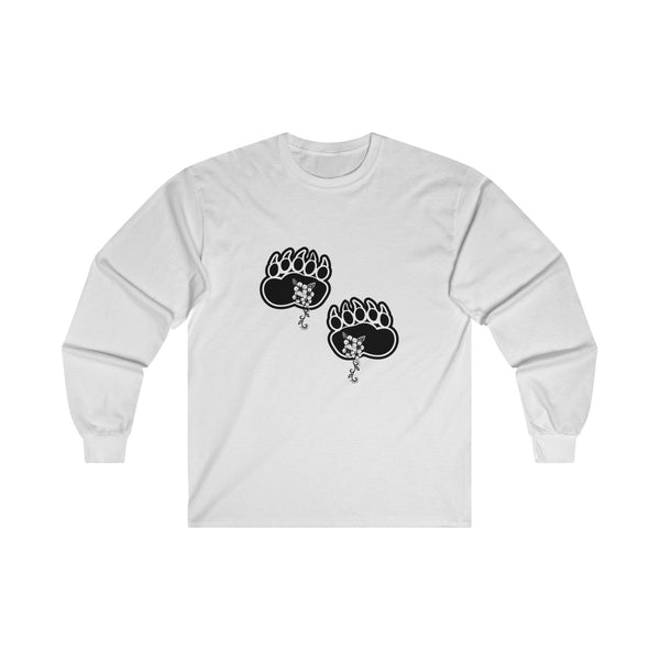 Black Bear Paws Unisex Long Sleeve Shirt Ultra Cotton Long Sleeve Tee