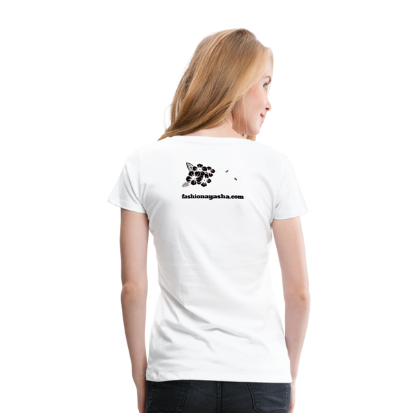 Best Friend 2 Women's Premium T-Shirt - white