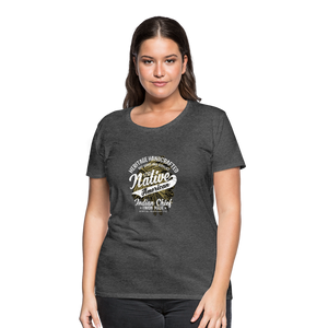 Native American Handcrafted Women's Premium T-Shirt - charcoal gray