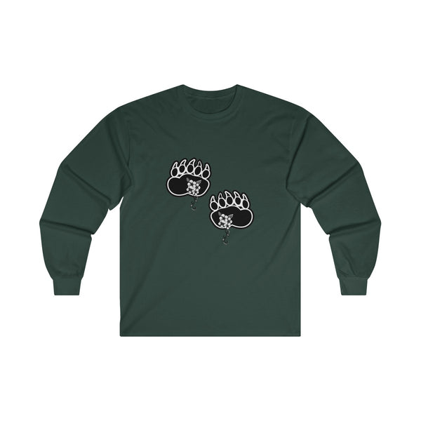bear paws tracks t-shirt