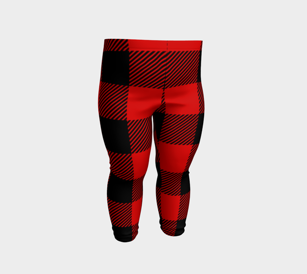 Red and Black Check Plaid Baby Leggings